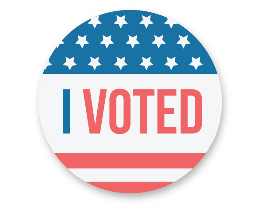 List of Synonyms and Antonyms of the Word: i just voted sticker
