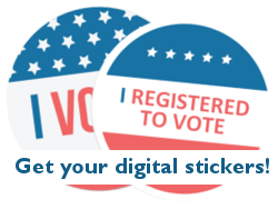 I registered to vote digital sticker