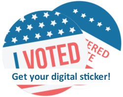 I voted digital sticker