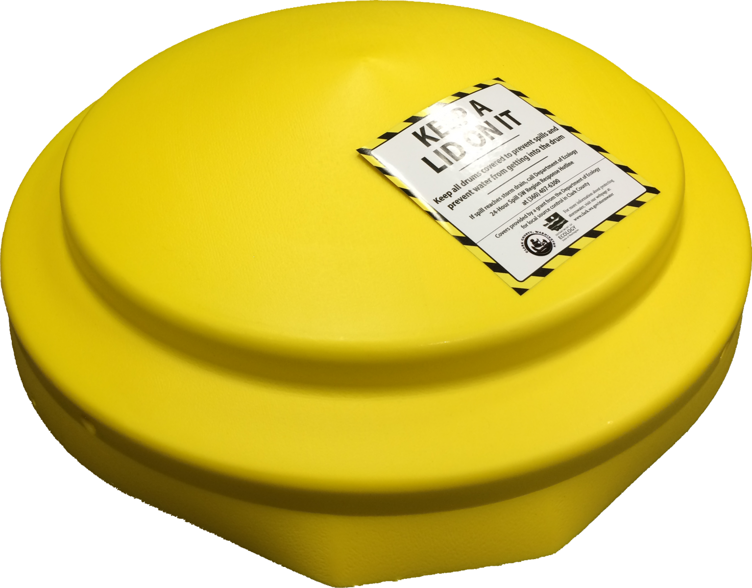 Spill prevention drum lid