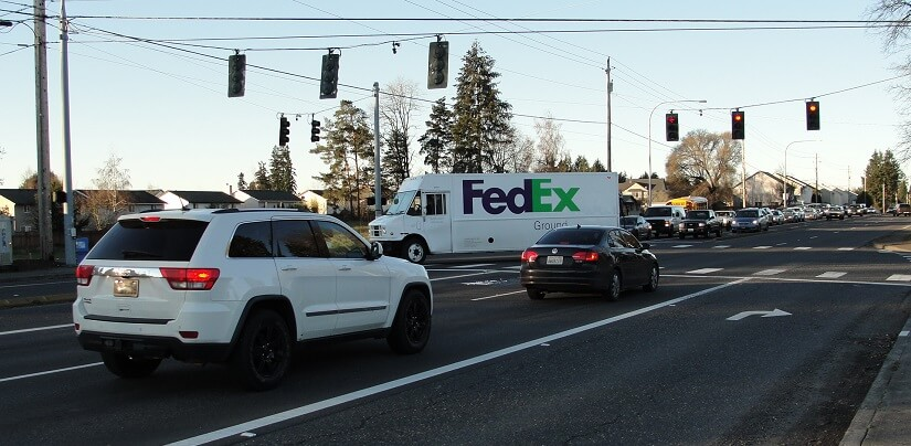 Intersection of Northeast 99th Street and SR 503