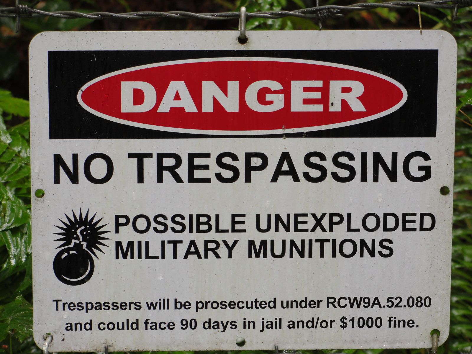 Camp Bonneville no trespassing sign