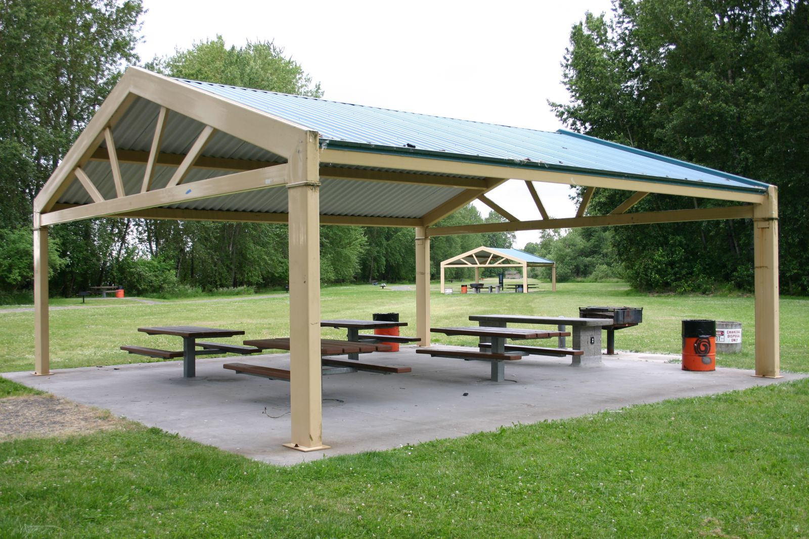 Shelter at Captain William Clark Regional Park at Cottonwood Beach