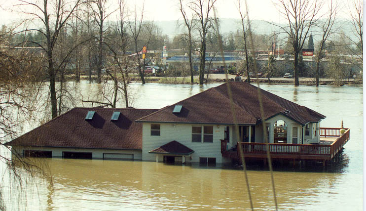February 1996 flood near Woodland