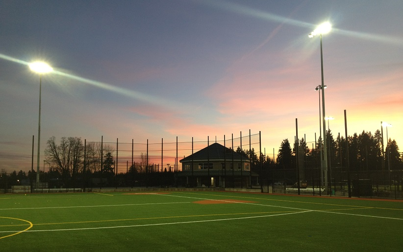 Twilight at Luke Jensen Sports Park, which opened in 2012.