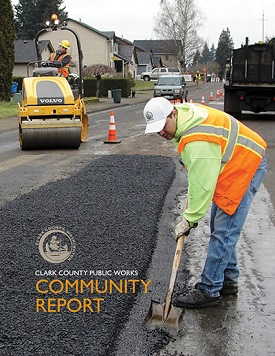 Cover of the Clark County Public Works Community Report.