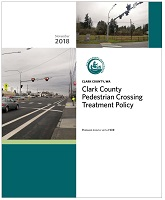 ​Cover of Clark County Pedestrian Crossing Treatment Policy.​