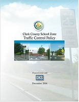 Cover of Clark County School Zone Traffic Control Policy.
