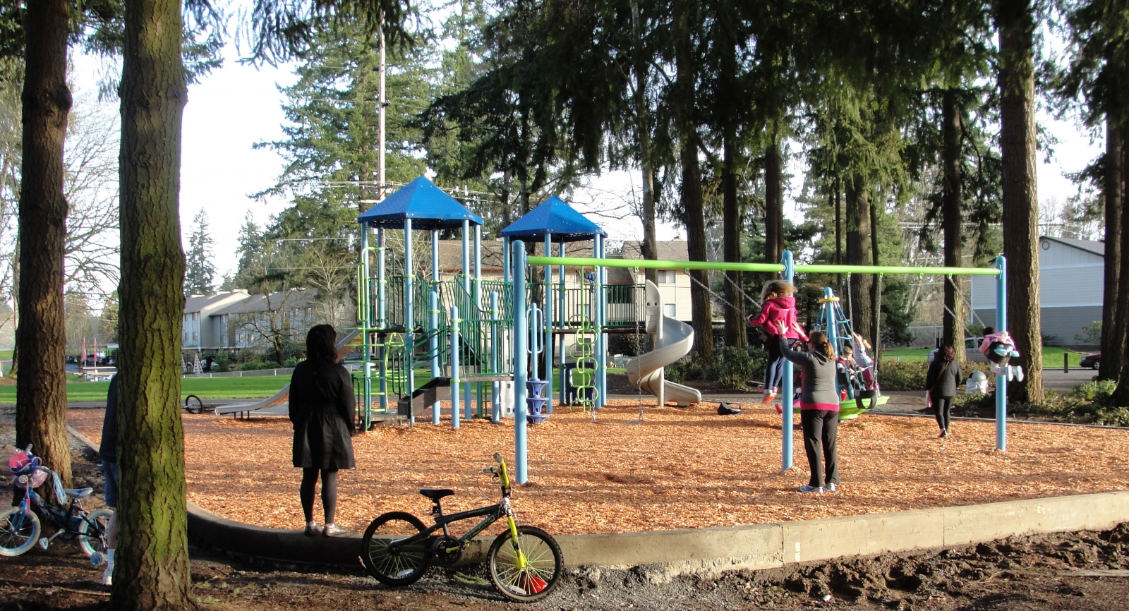 New play equipment at Stockford Village Neighborhood Park.