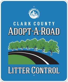 Adopt a Road recognition sign