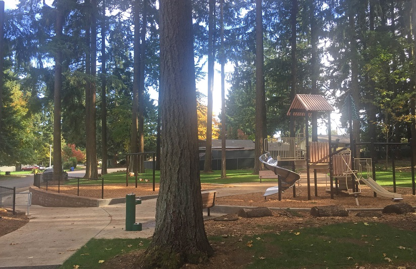 Tower Crest Neighborhood Park, following construction completion in October 2017.