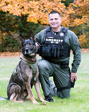 K9 team Jango and Deputy Sean Boyle