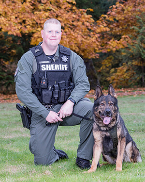 K9 team Ringo and Deputy Seth Brannan