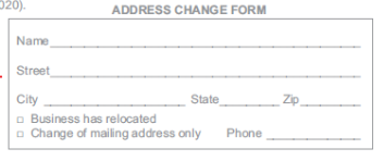 Or CLICK HERE For A Printable Change Of Address Form.  Printable Change Of Address Form