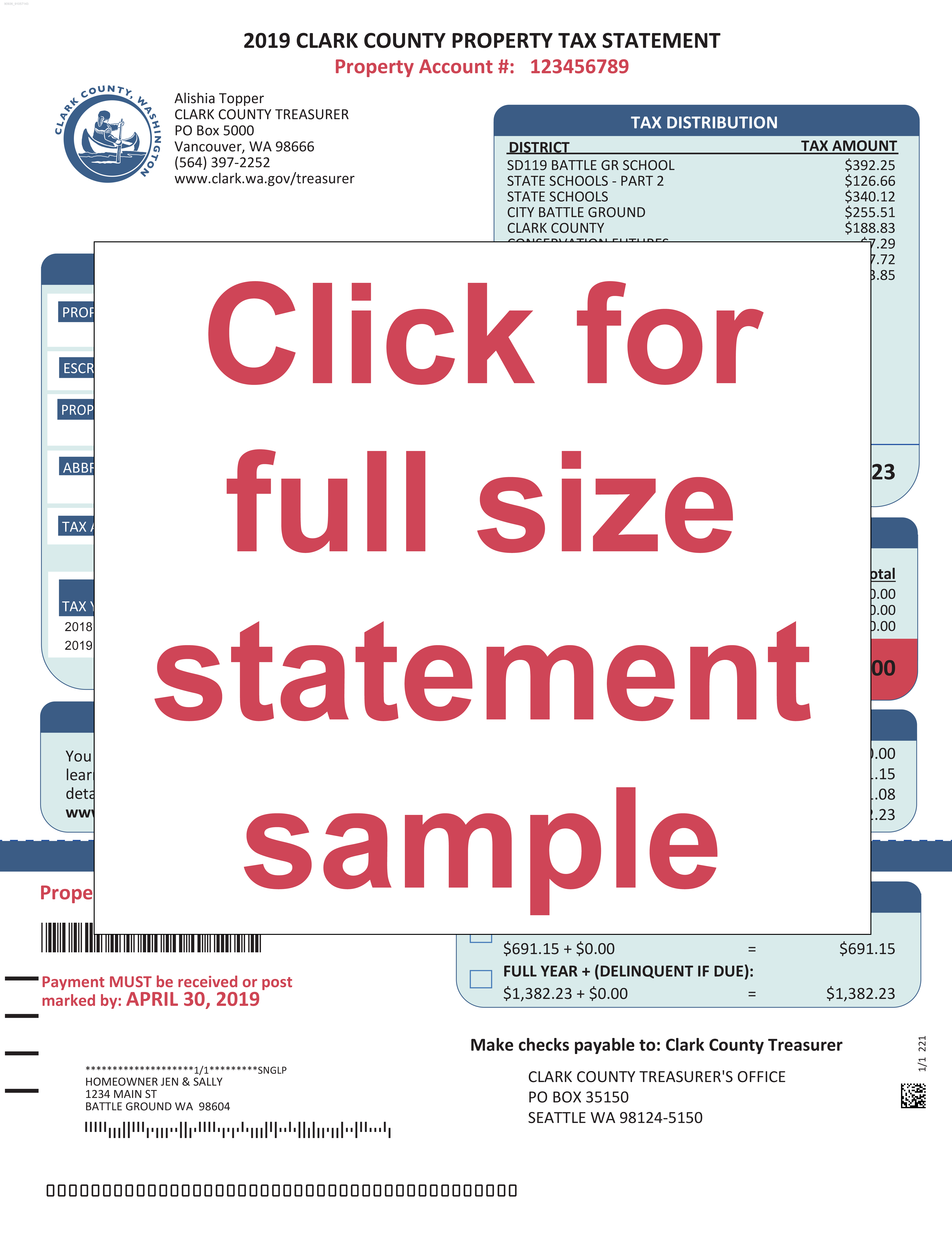 Click for full size tax statement PDF
