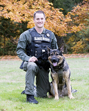 K9 team Gus and Deputy Erik Dunham